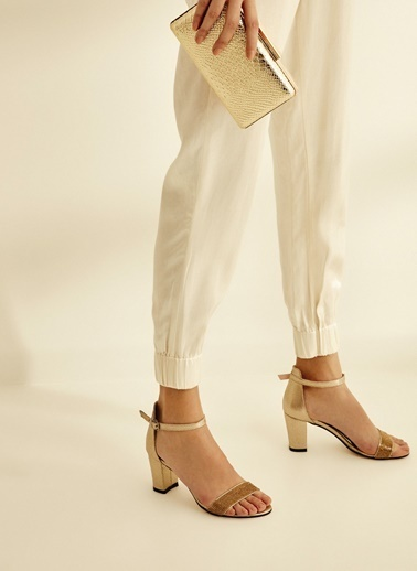 Sole Sisters Topuklu Sandalet Altın - Petrica2 Sarı